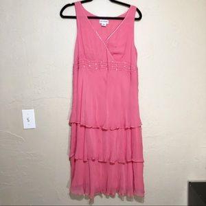 Motherhood Maternity Pink Sleeveless Dress L